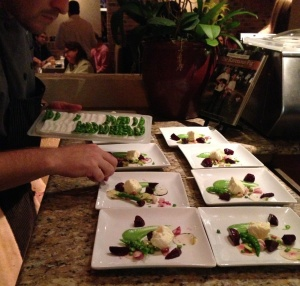 Plating the Salad with Perfect English Peas