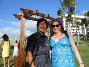 Emily with Iron Chef Sakai