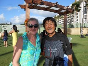 debora with Iron Chef Sakai